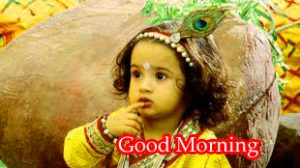 God Krishna Good Morning Images Wallpaper Pictures Photo Pics Download For Whatsaap With Bal Krishna