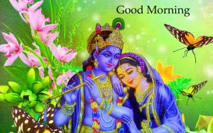 radha krishna good morning Wallpaper Photo Picture