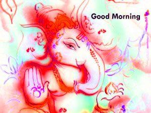 Lord Ganesha Good Morning Wallpaper Download