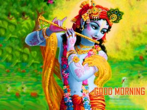 Krishna Good Morning Photo Wallpaper Download