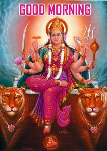 Maa Durga Good Morning Wallpaper Free Download