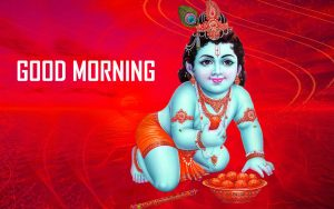 God Krishna Good Morning Photo Wallpaper Free Download