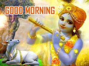 HD Krishna Good Morning Photo Pics Free Download