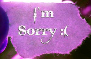 i am sorry wallpaper