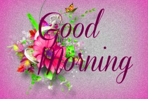 Good Morning 3D Photos Images With Red Flower