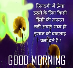 Good Morning 3D Photos With Hindi Quotes