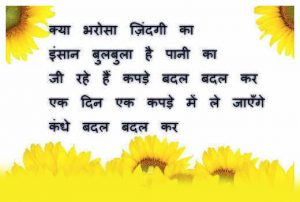 Hindi Life Whatsapp Profile DP Images With Flower