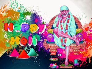 Sai Baba Happy Holi Images Photo Pics Download