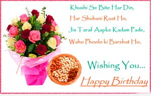 Quotes Happy Birthday Wishes Images Pics With Flower