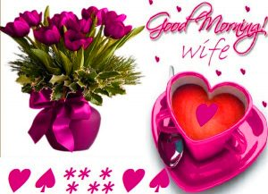 Wife good morning Images Photo Pics With Flower