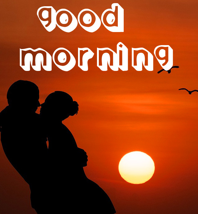 Love Couple Good Morning Images Wallpaper With 3d Font