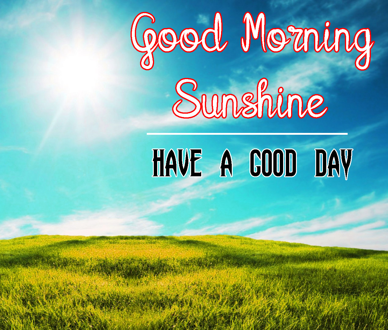 Sunsine Good Morning Images Pics For Whatsapp / Facebook