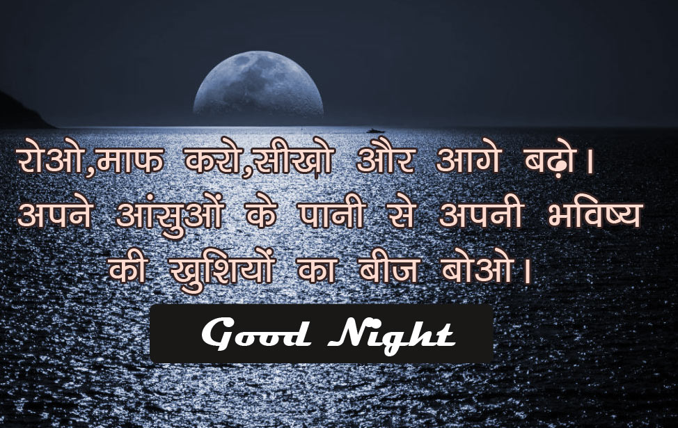 Hindi Motivational Quotes Good Night  Images Free