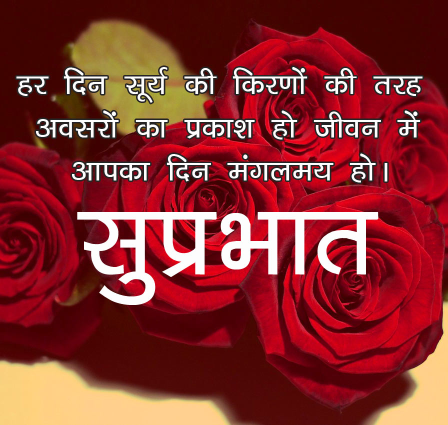 Hindi Quotes Flower good morning Images