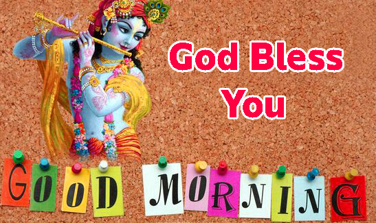 god bless good morning images Pics With Radha Krishna