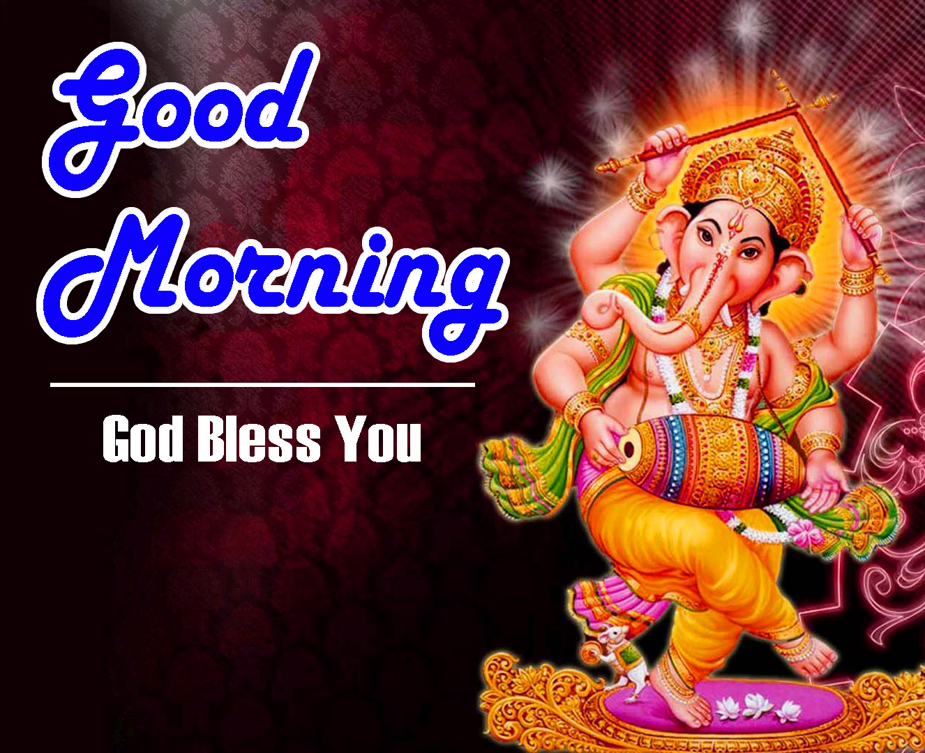 god bless good morning images With God Ganesha
