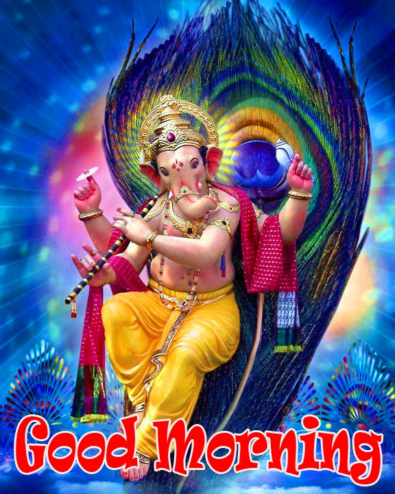 Ganesha good morning Wallpaper photo Free Download
