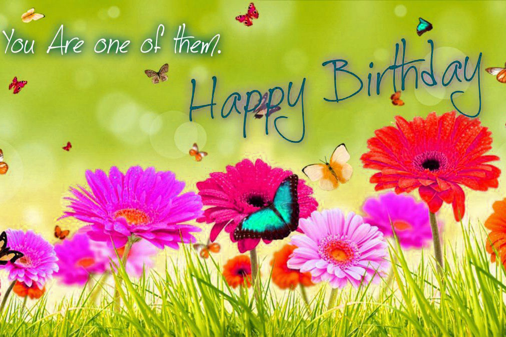 Happy Birthday Images Wallpaper Free With Flower
