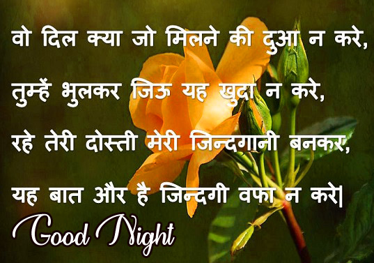 Hindi Shayari Good Morning Photo for Facebook