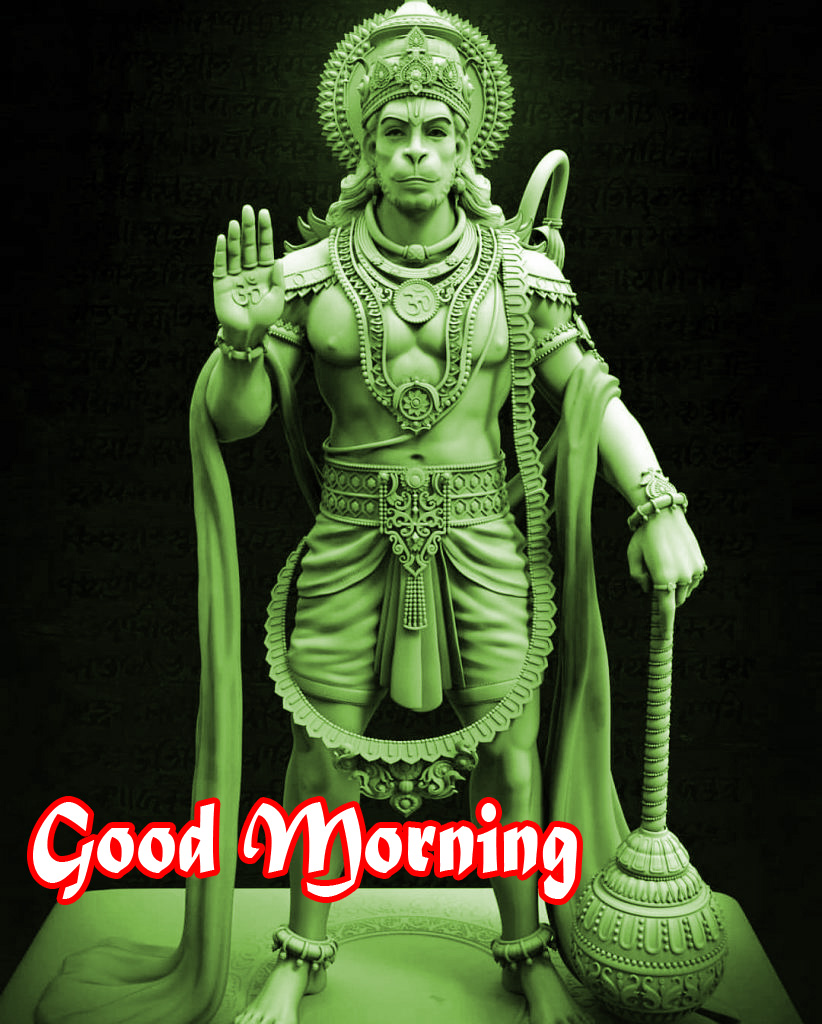 god images hanuman good Morning