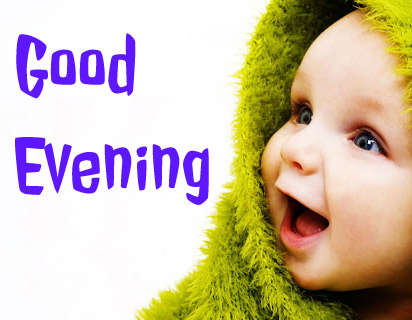 good evening images with cute baby 14