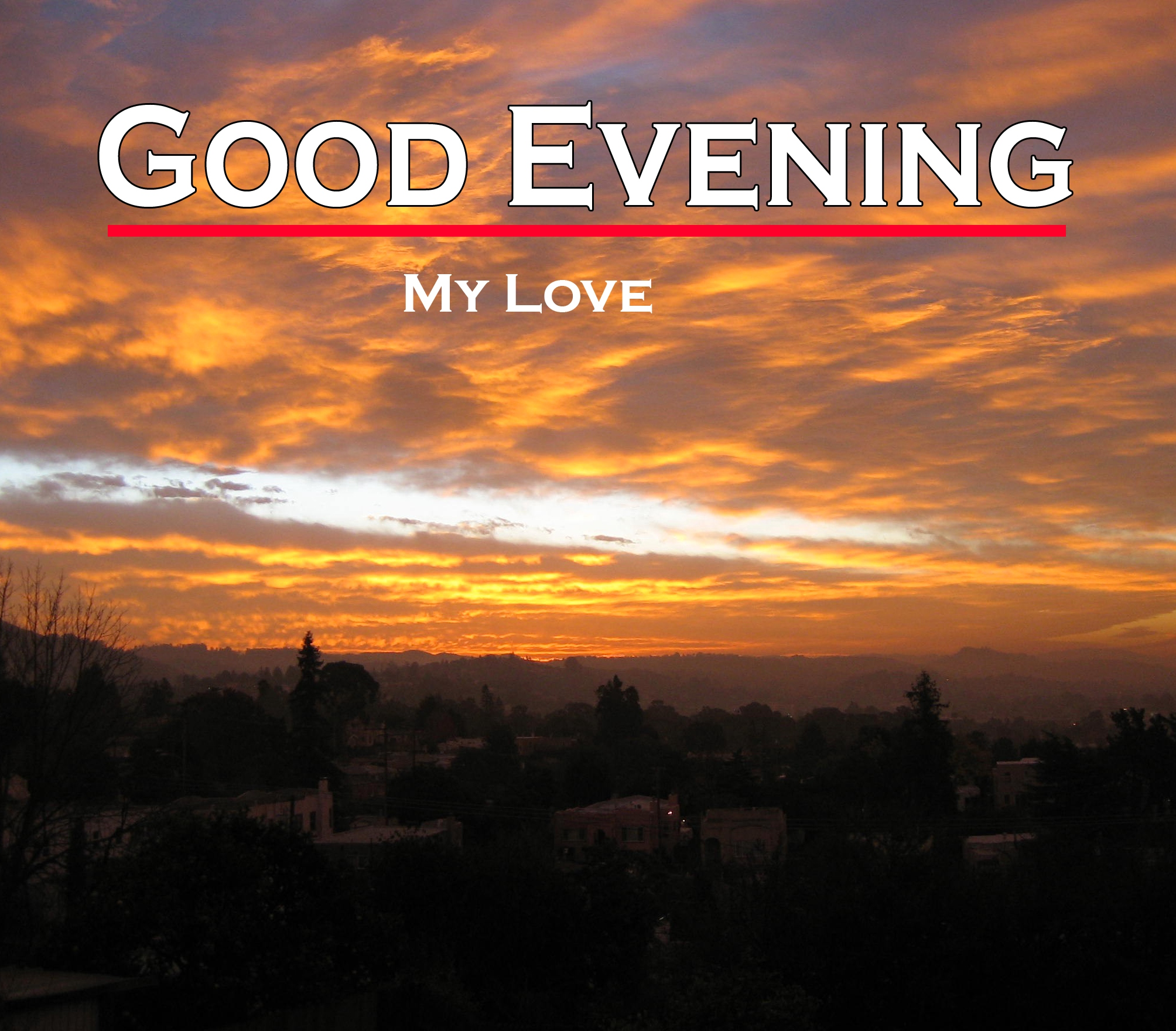 Good Evening Wishes Photo for Facebook