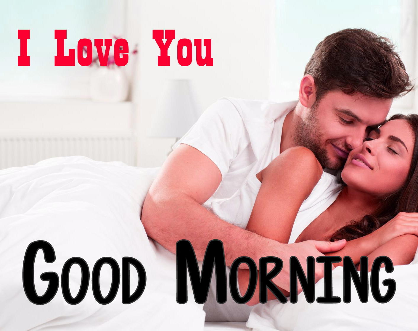 Husband Wife Romantic Good Morning Images With I love You