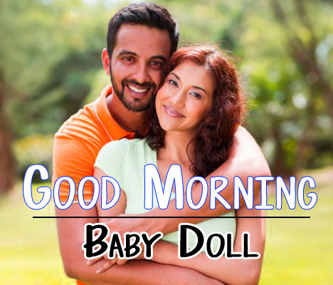 Husband Wife Romantic Good Morning Pics With Beautiful Couple