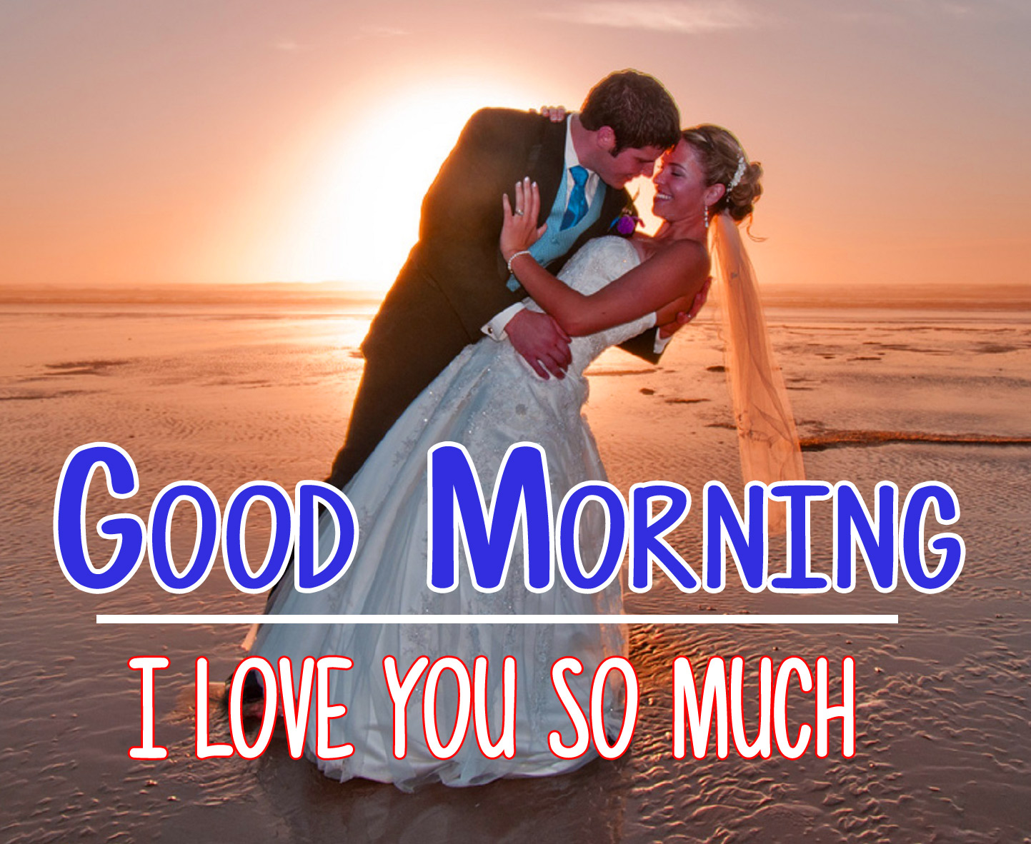 Husband Wife Romantic Good Morning pics Download In HD