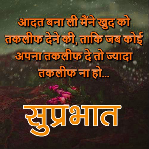 Hindi Good Morning Quotes Images 2