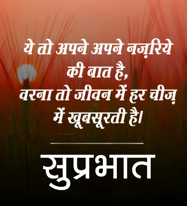 Hindi Good Morning Quotes Images 4