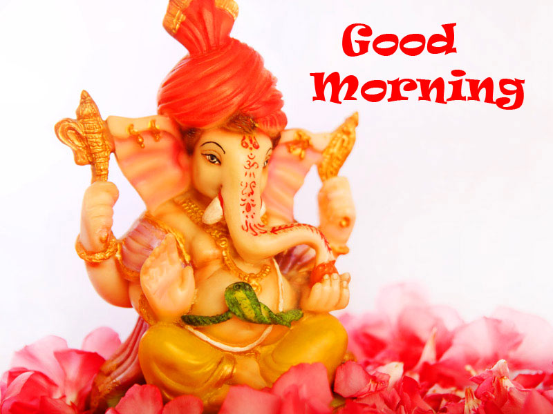 good morning Images With Bal Ganesha
