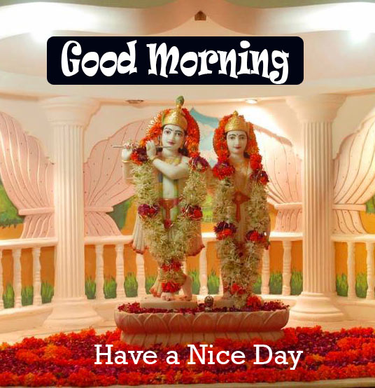 good morning Images Wallpaper With Radha Krishna