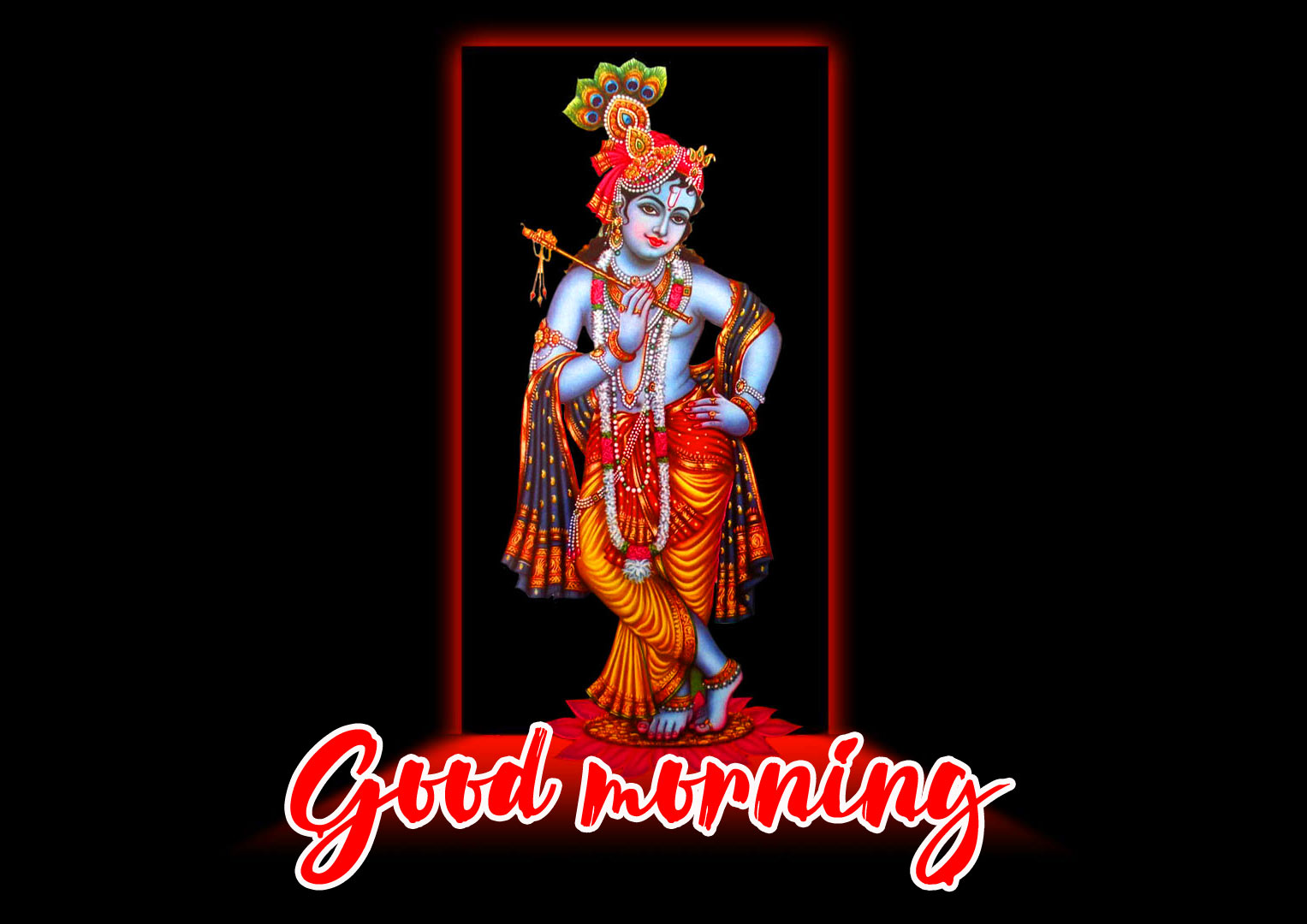 good morning Images With Krishna