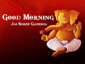 Lord Ganesha Good Mornign Wishes Wallpaper Free