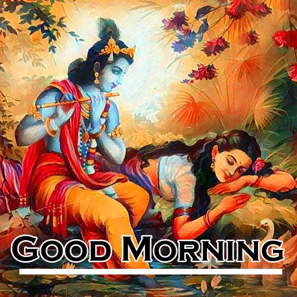 Radha Krishna Good Morning Images 8