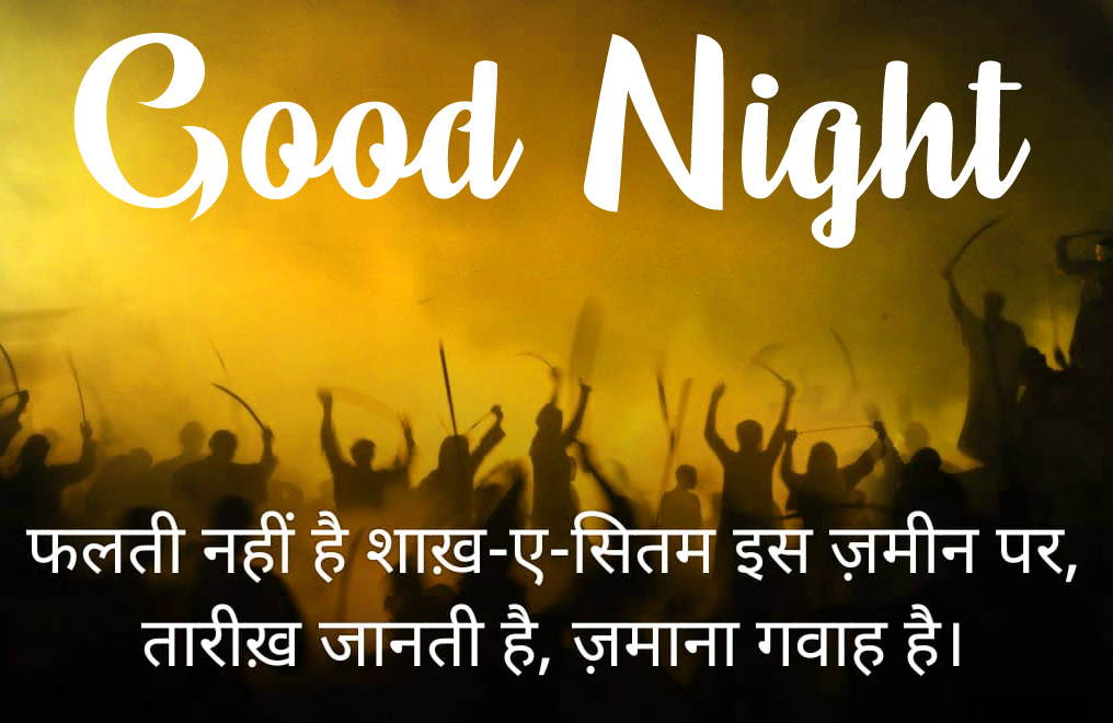Good Night Images With Hindi Shayari 22