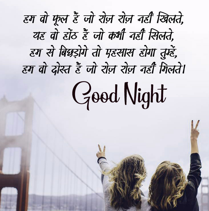 Good Night Images With Hindi Shayari 3
