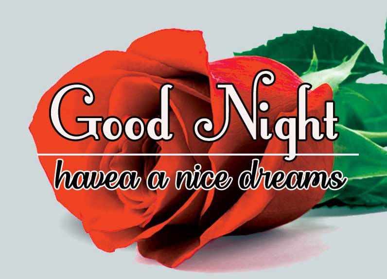 Good Night Images for friend Pics Pictures With Red Rose