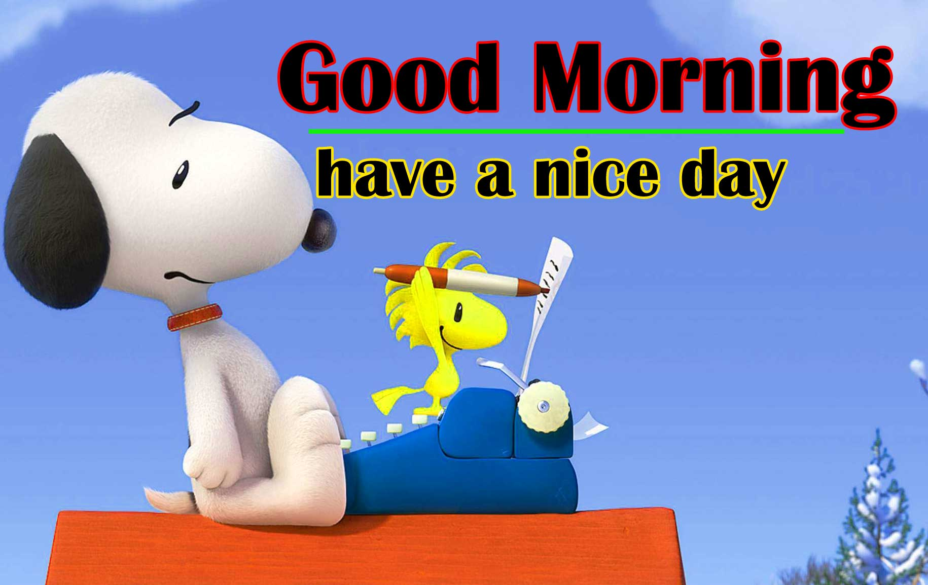 Snoopy good Morning 6