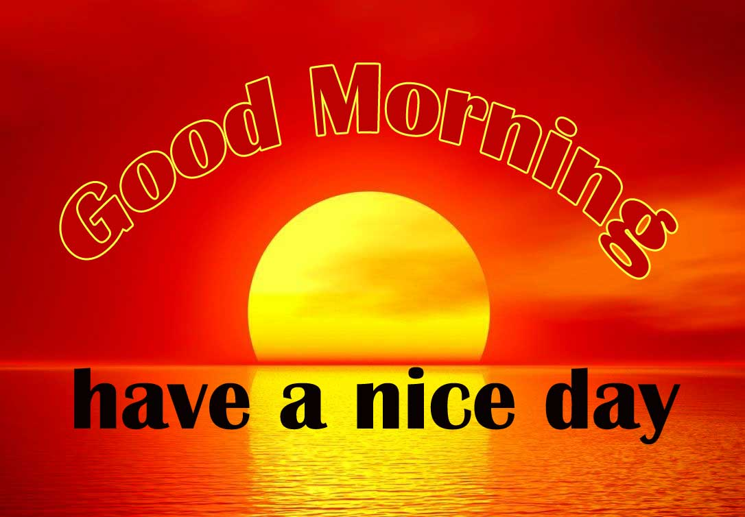 Sunshine Good Morning Wishes Images With Have a Nice Day
