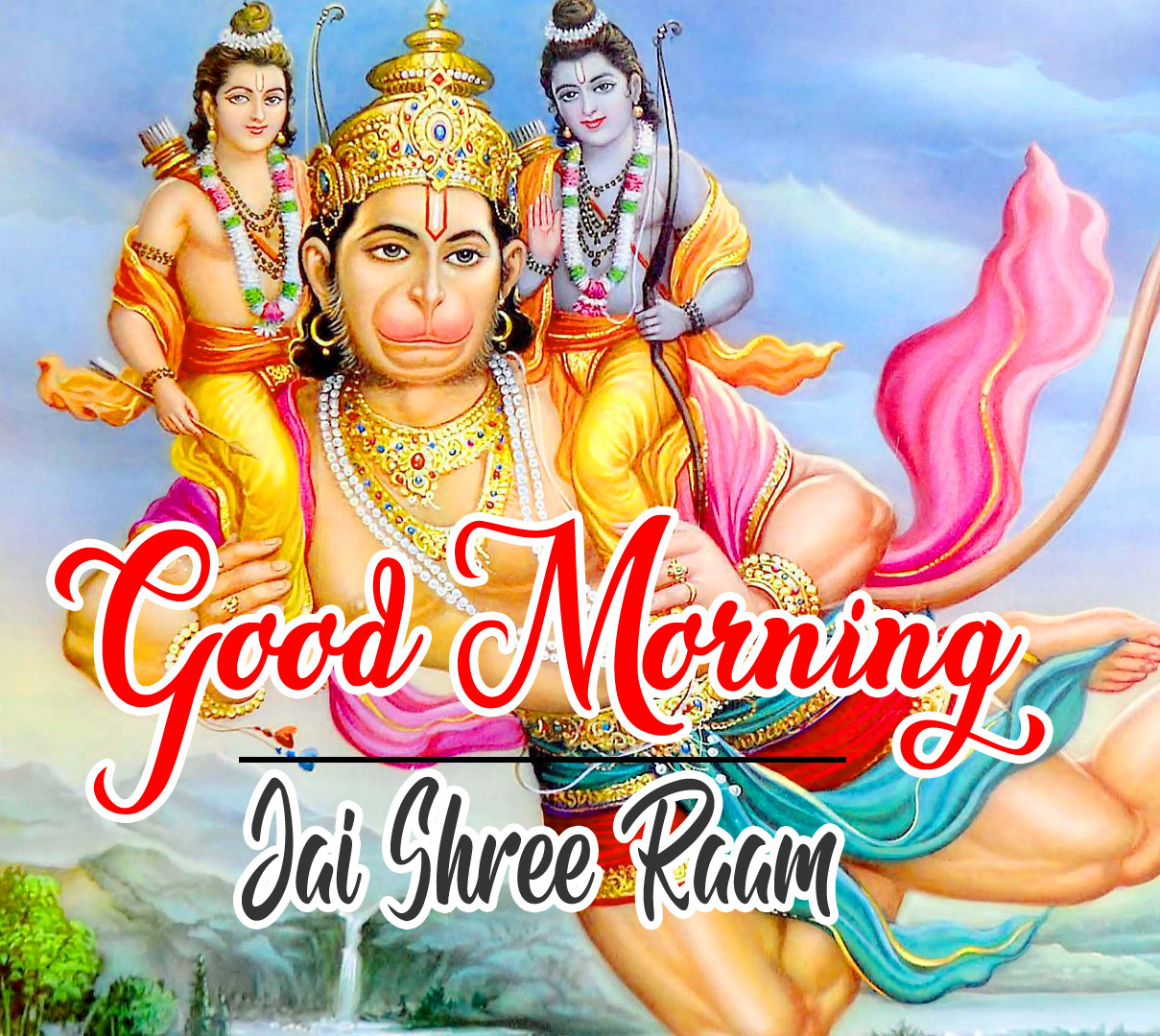 Lord Hanuman Ji good morning Images Photo With Sri Ram
