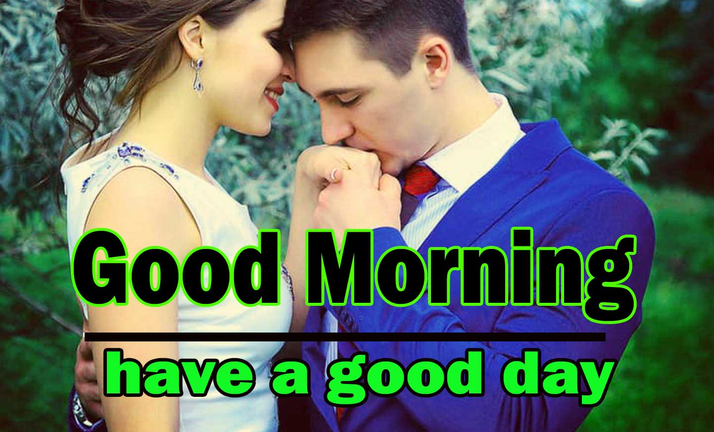 Romantic Love Couple Good Morning 1