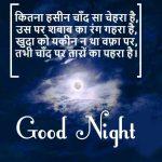 Beautiful Hindi Shayari Good Night Photo Free