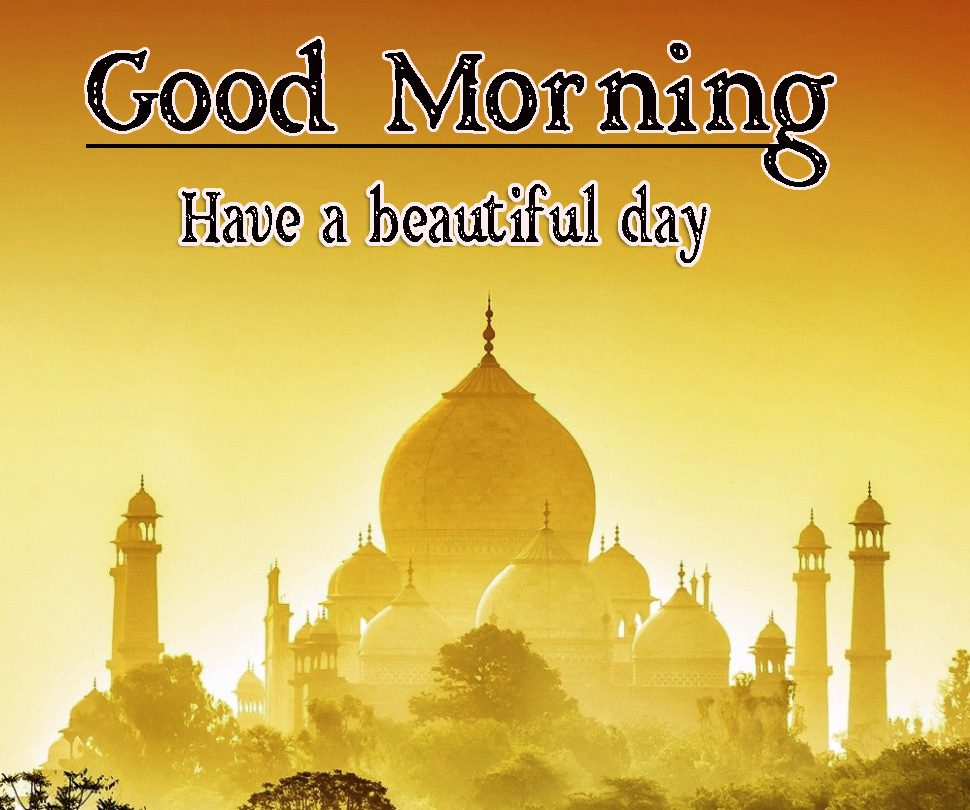 Very Good Morning Images Wallpaper With Taj Mahal