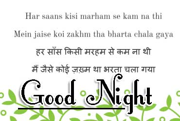 Good Night Images With Hindi Shayari 13