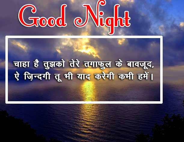 Beautiful Free Hindi Shayari Good Night Photo Download Free