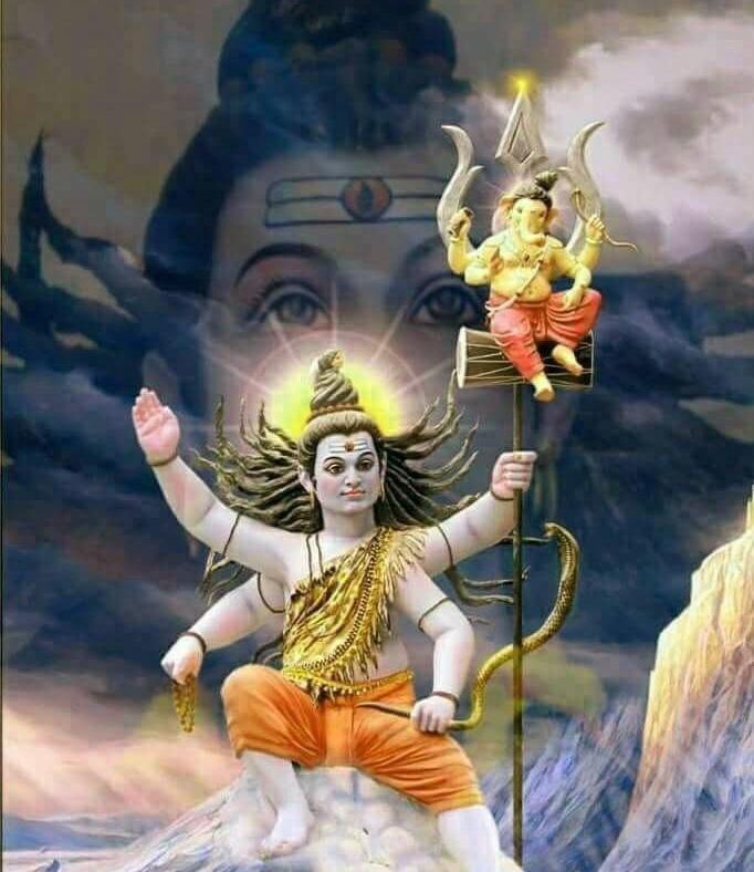 shiva wallpaper With Lord Ganesha