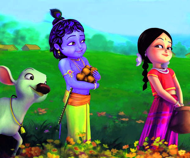 Cartoon Radha Krishna HD Wallpaper Pics Download