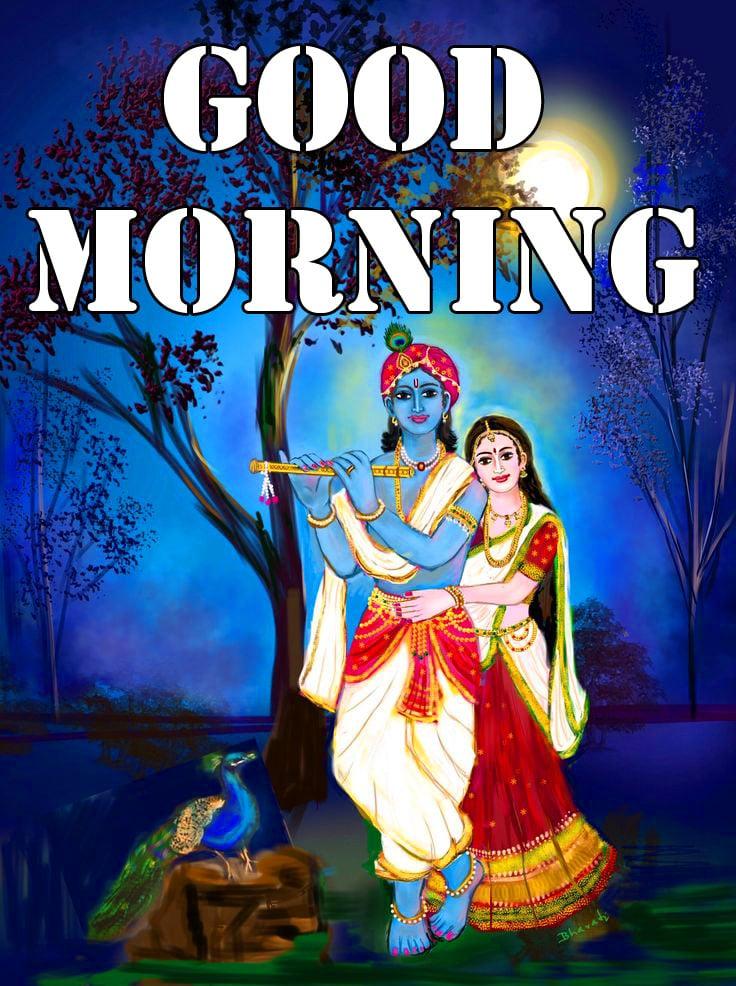 Beautiful Radha Krishna Good Morning Wishes 1